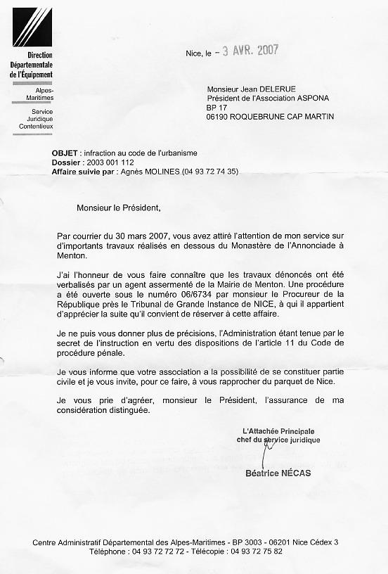 lettre de petition pour travaux